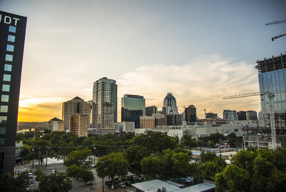 Austin Sunset Skyline Downtown by Weston Carls.jpg
