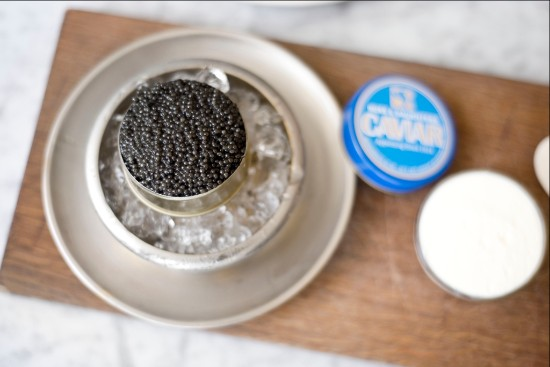 caviar Russ & Daughters on table at cafe.jpg