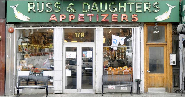 Facade 179 E Houston St Russ Daughters Storefront Shop