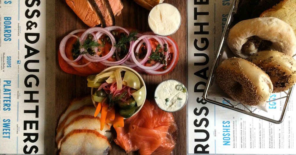 Russ & Daughters bagels and smoked fish platter.jpg