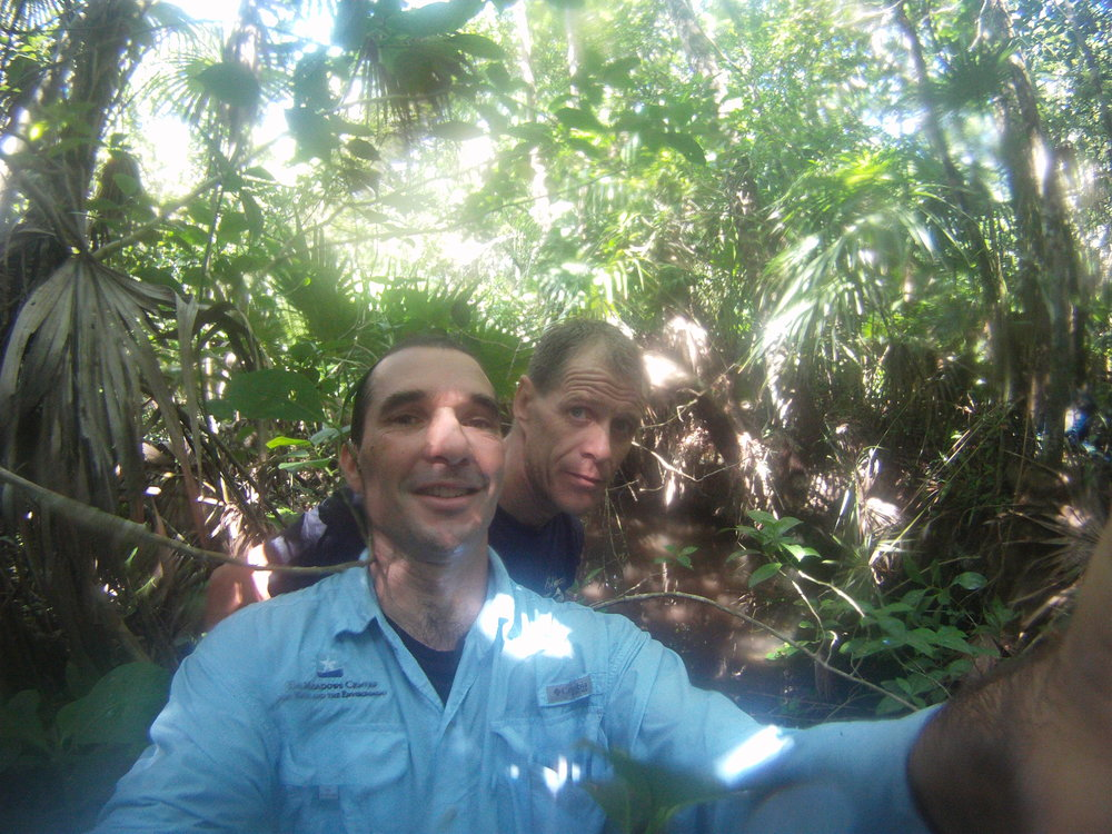 Sam and Christophe finding Cenote Doblado, 2013