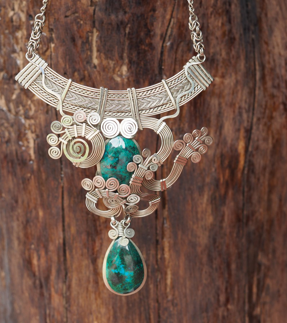 Chrysocolla THAYA Necklace