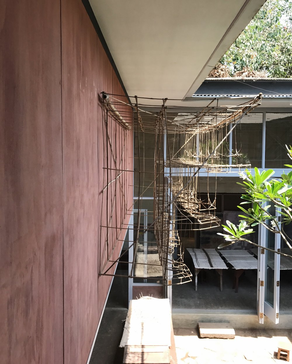 Architectural basic structures created with bamboo.