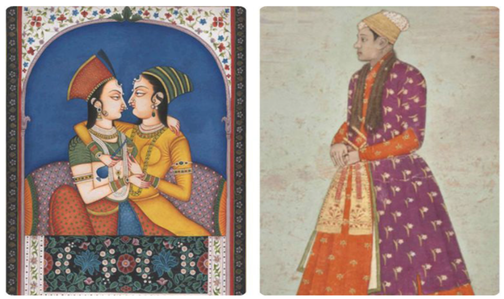 Left: An exact reproduction of a late 18th century miniature from Nagor by artist Kailash Raj. Right: Eunuch Khawas Khan of Bahdur Shah I from the Saeed Motamed Collection. - Courtesy DAWN Newspaper Pakistan