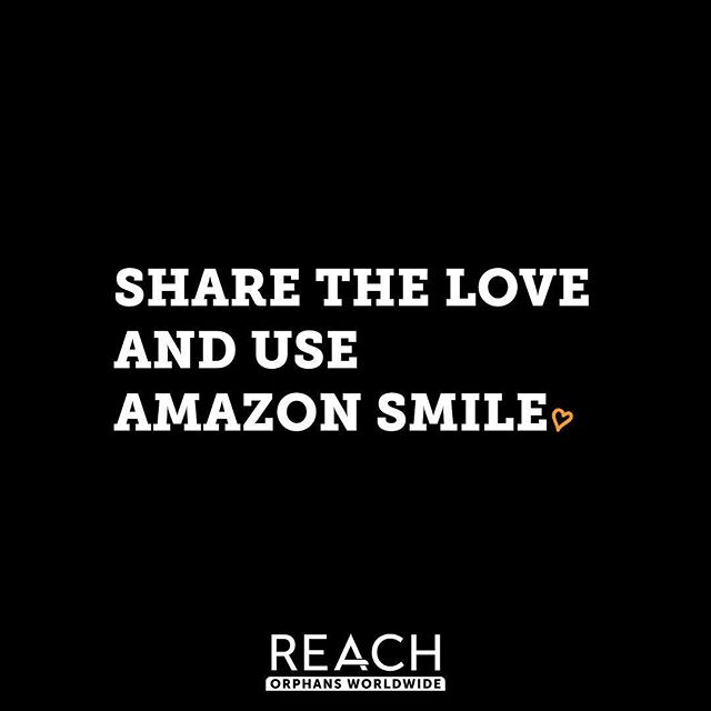 Change the world and get them something amazing at the same time. By shopping Amazon Smile, Reach Orphans Worldwide gets a percentage of each purchase donated. (It's that simple.)⠀ ⠀ Here's how it works:⠀ 1) Go to Amazon Smile.⠀ 2) Select Reach Orphans Worldwide as your charity of choice.⠀ 3) Happy shopping and thanks for your support!⠀ ⠀