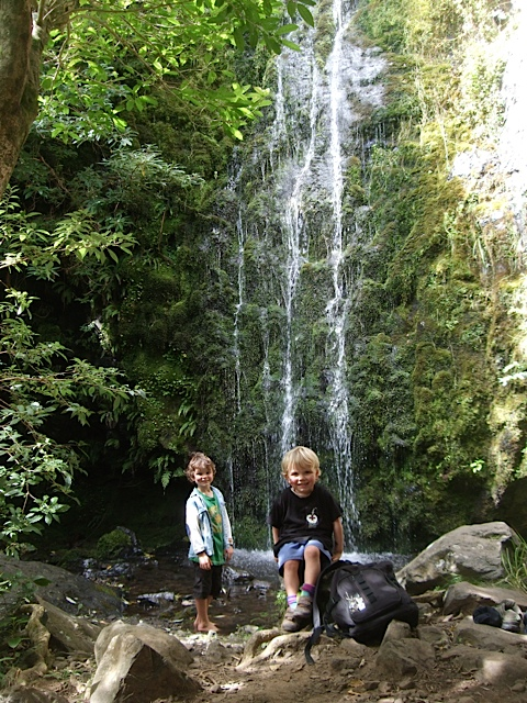 Resting at the Waterfall on the Waterfall Gully Track