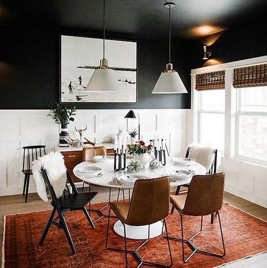 Dark Inky Accent Walls For Fall Design Manage