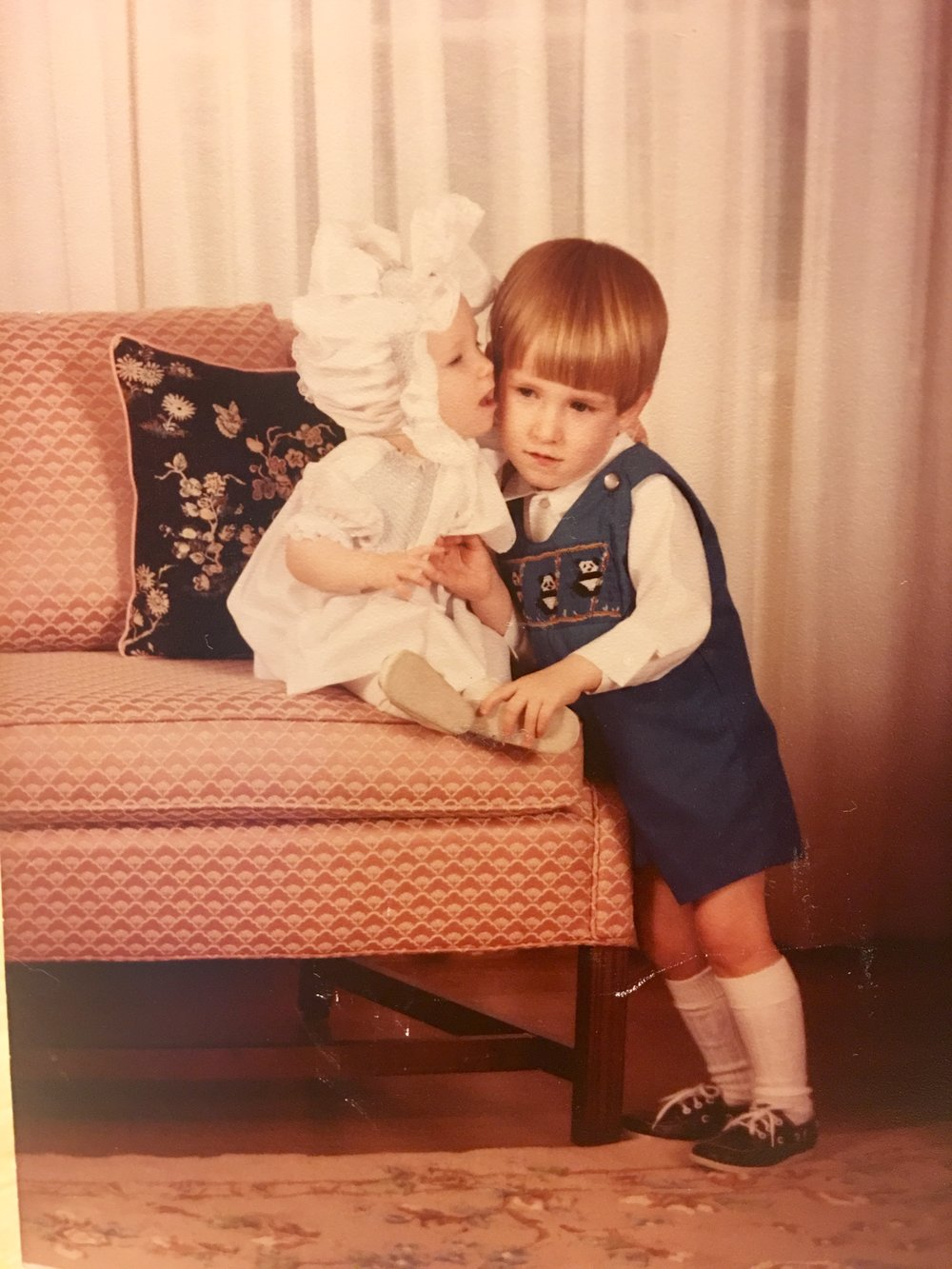 I love bonnets, just like my momma did! (My older brother and I circa 1984)