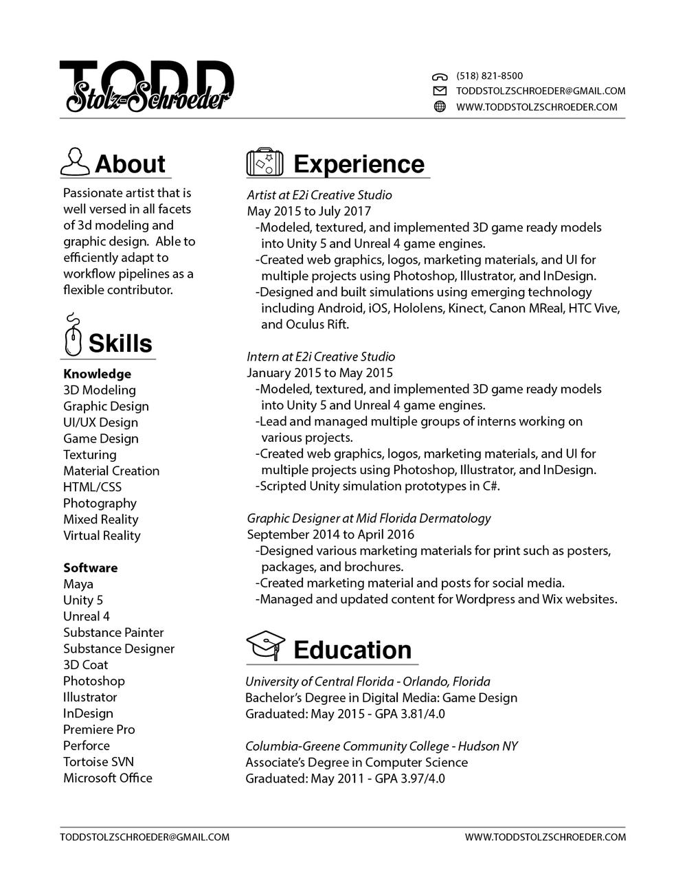 Resume — Todd Stolz-Schroeder