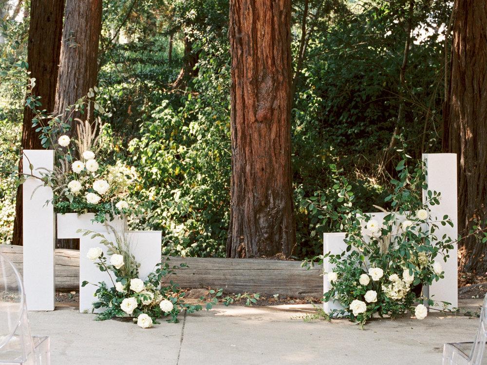 Brianne & Ben's Stylish Modern Wedding at Piedmont Community Hall Natalie Choi Events. Flower Girl Em. Piedmont Community Hall.