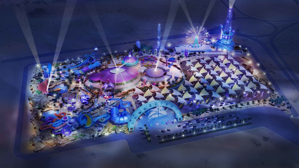 Aquador Themed Waterpark at Al Kwahr, Doha, Qatar.  Master Planned in collaboration with Nextep Design, Inc.