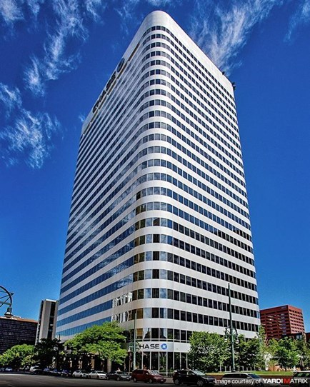 Denver National Bank Plaza, Denver, Colorado. Collaboration with SOM on floor plate design / tenant development for CRSS