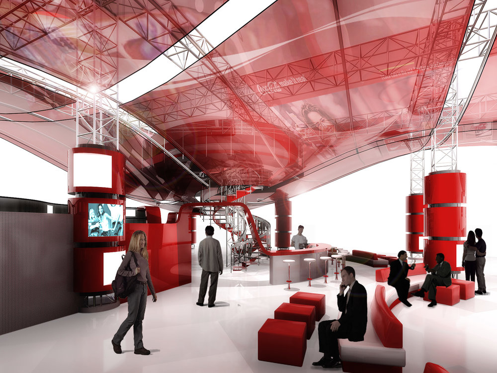 Coco Cola Retail Store Showroom Experience Concept -  joint with Hetzel Design