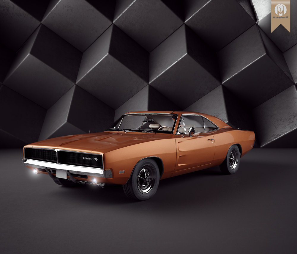 Dodge Charger RT - Shout-out to David Santos for sharing this brilliant 3D Model. Credits to mr.Narek Gabazyan for modeling this beast. Textures are included and UVW assigned.