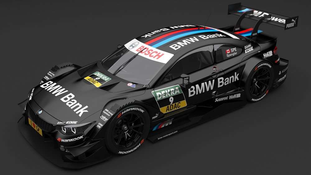 BMW M4 DTM Spengler - File contains camera, lights and a ground plane. The car has a basic interior with detailed exterior.Original model created in Modo 701High resolution unwrapped UV texture files up to 6288 x 6288 pixels.Originally modelled and distributed by Tod Deppe, check out his portfolio!