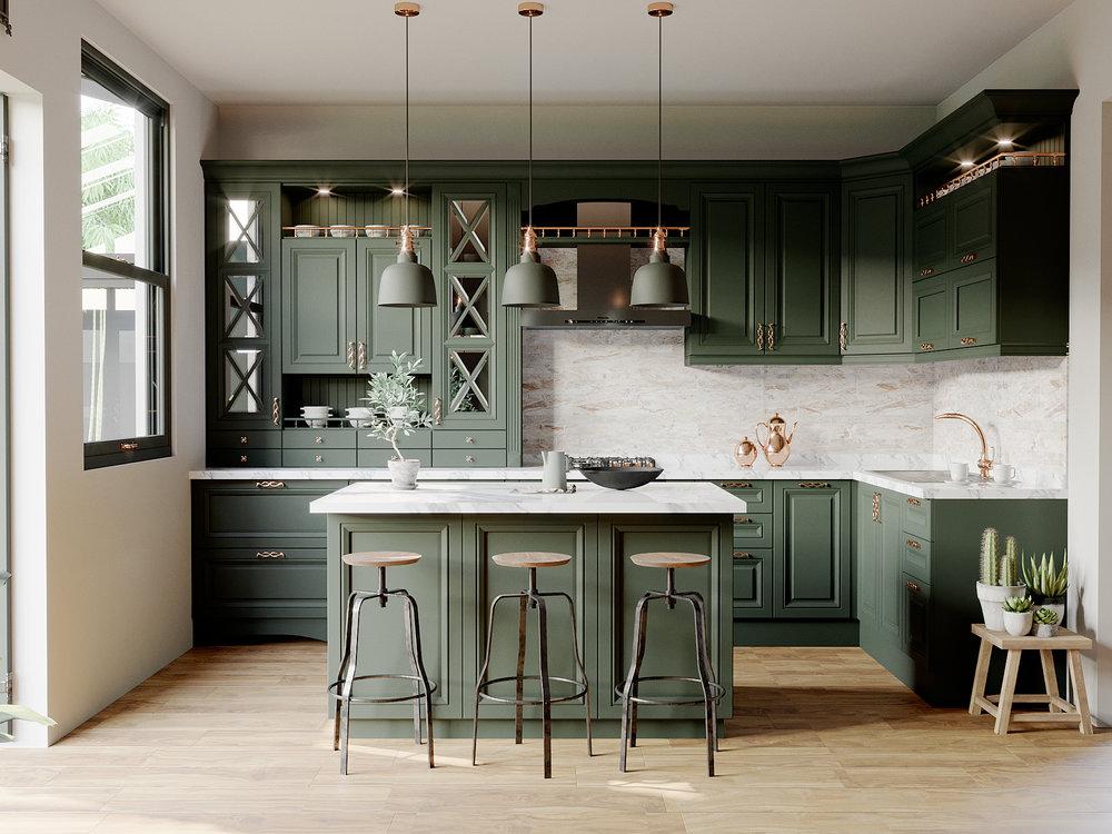 Maya's Green Kitchen Frontal.jpg