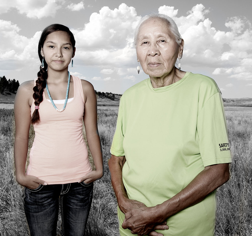 Sharlyce and Jennie Parker, Northern Cheyenne, Montana