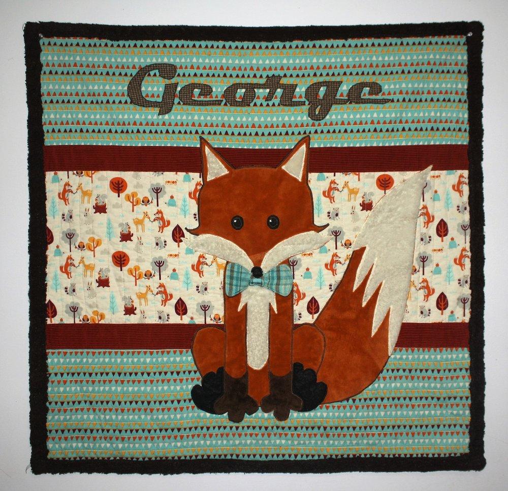 Baby quilt. Fox theme.