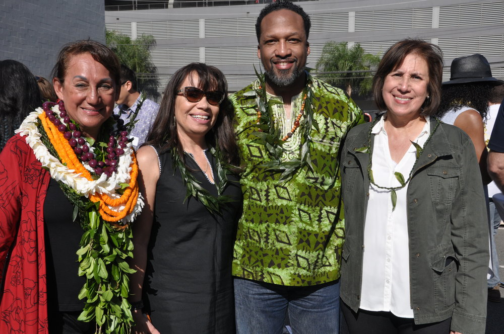 Vicky Holt Takamine, Lori Pourier, Carlton Turner, and Maria De Leon. Photo credit: Kyle Wright