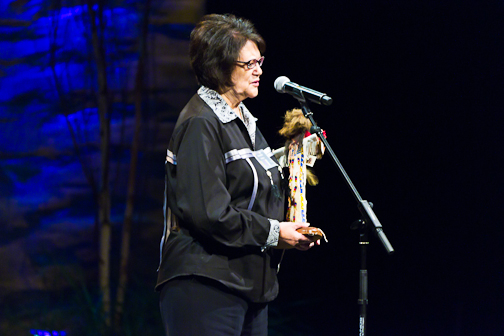 Elouise Cobell (Blackfeet) at FPF's 2010 Community Spirit Awards. Image by Ronnie Farley.