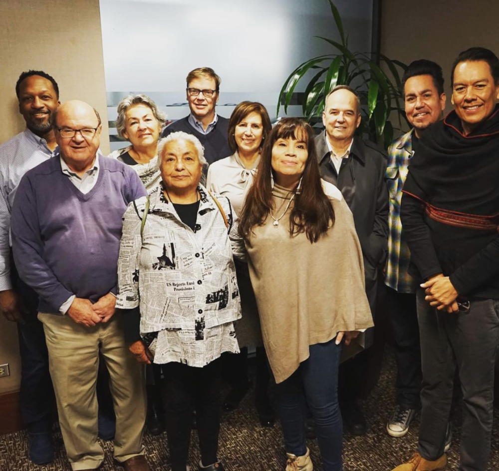 First Peoples Fund Board of Directors and Advisory Council in Santa Fe, NM August 2016  Left to Right: Carlton Turner, Terry Pechota, Sherry Salway Black, Jody Naranjo Folwell-Turipa, Kelley Lindquist, Maria Lopez de Leon, FPF President Lori Pourier, Bud Lane III, David Cournoyer, Bird Runningwater.