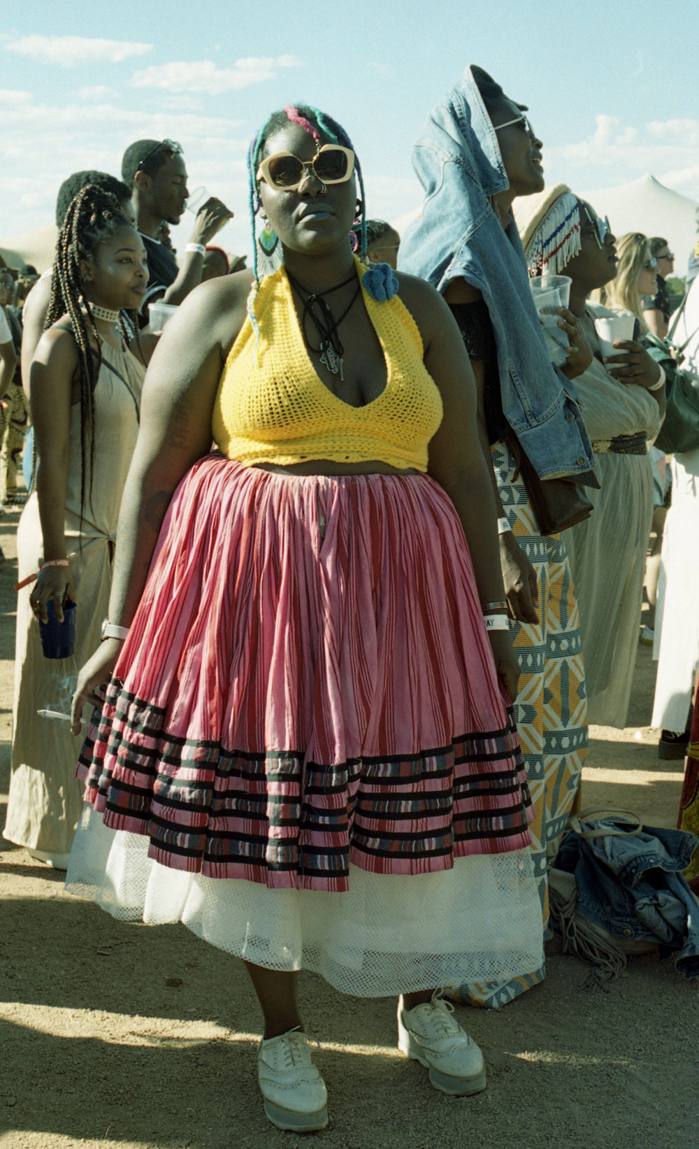 """Noombala, """"Mother of Colors"""" in her own clothes"""