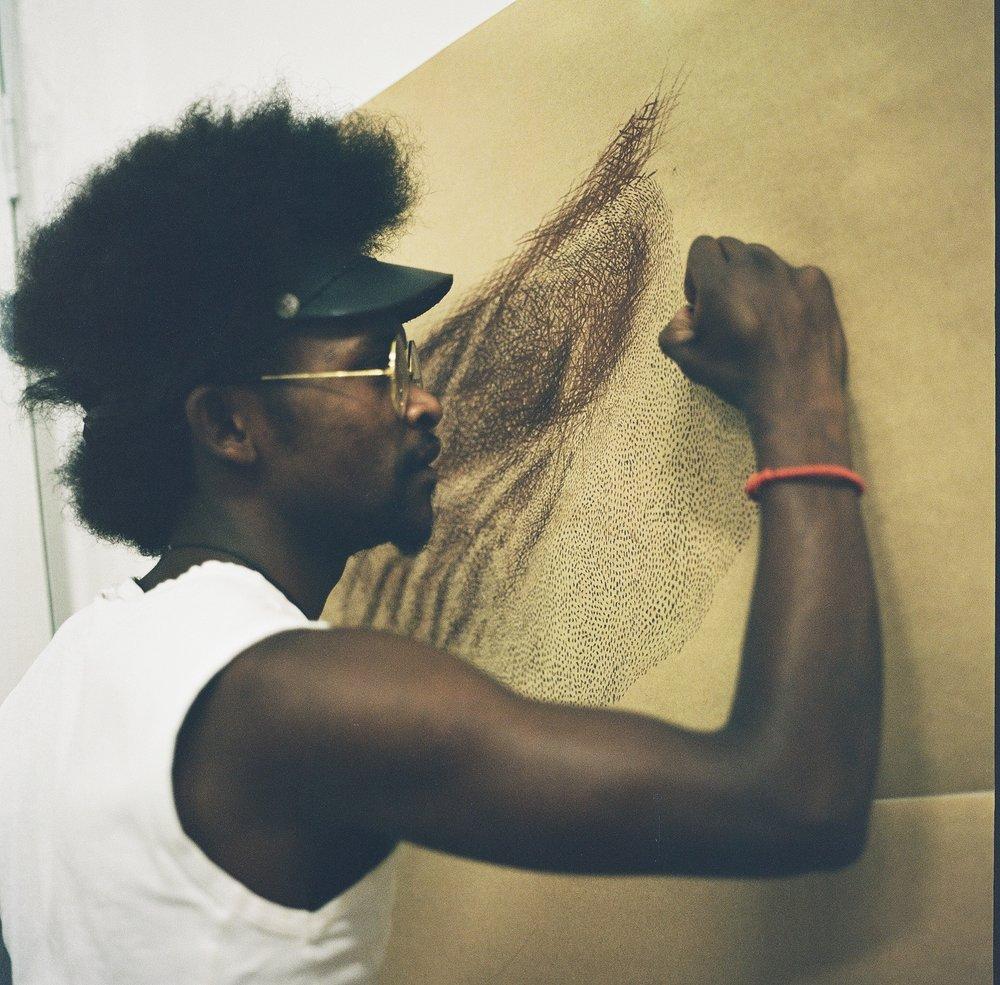 Victor Kuster, Artist in August House, Johannesburg, 120mm
