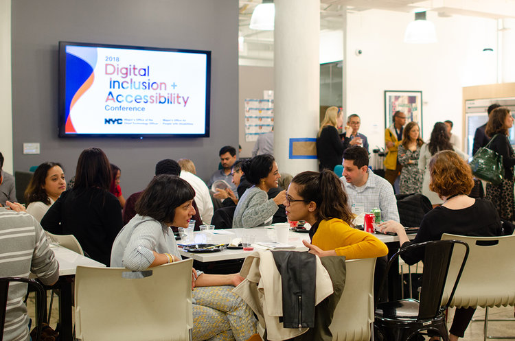 NYC 1st Digital Inclusion and Accessibility Conference    One-day event to empower City workers to create accessible and equitable digital services   Role: Lead organizer, art director, toolkit and messaging writer, comms strategist