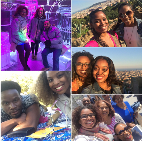Visits in Barcelona with friends and family