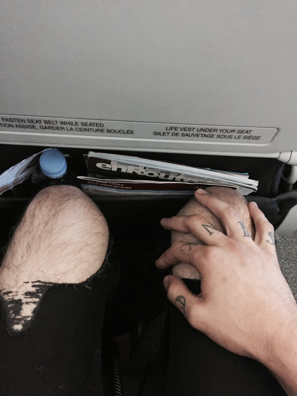 = no fucking legroom.