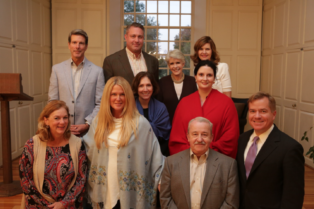 Your 2018 Vestry, pictured from left to right, top to bottom: Mark Thompson. Sanford Diday, Ellen Hall, Debra Latiolais, Johanna Jackson, Melissa Neal, Kathryn Gemmer, Martha Williamson, Jim Hoecker and Matt Blunt (not pictured: Troye Plaskitt and Kevin Fox).