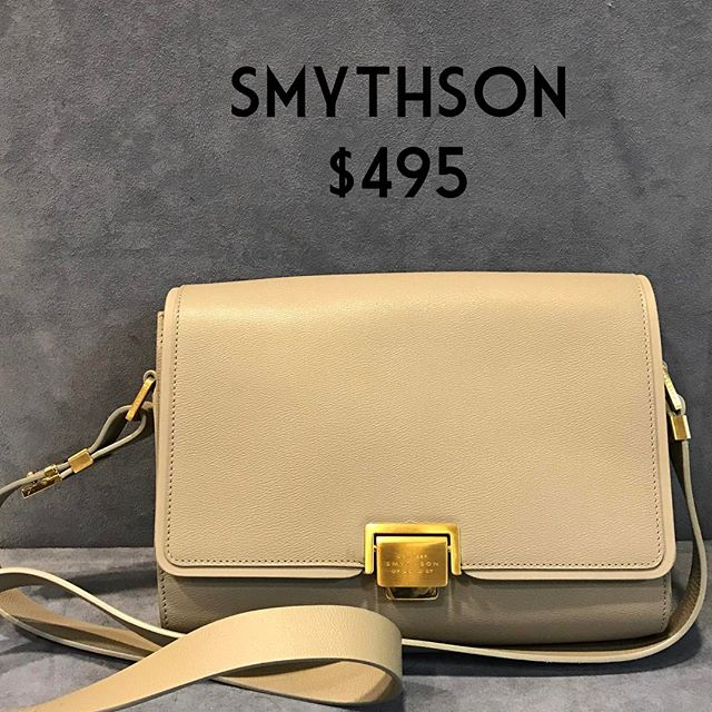 Smythson Adjustable Crossbody $495 (retails $1,095) #consignment #chicenvy #purseforsale #fairfaxcorner #purse #smythson