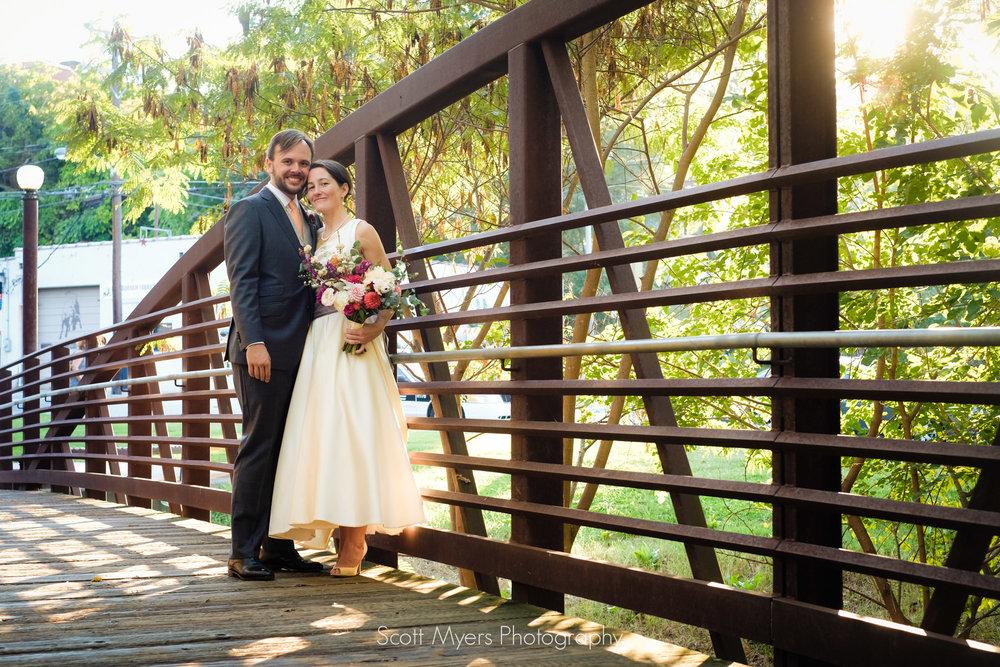 Sean Umstead and Michelle Vanderwalker after their wedding ceremony