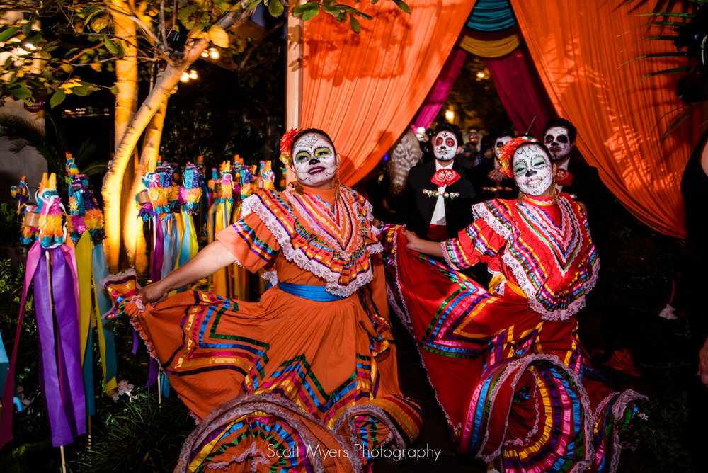 Mexican Folkloric dancers, Cafe Amelie, New Orleans