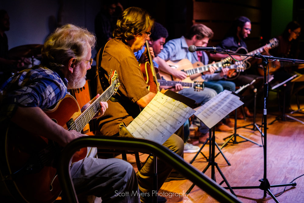 Steve Masakowski, Hank Mackie and the UNO Guitar Ensemble at the Sandbar