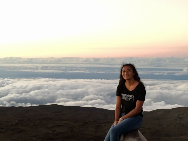 "Kamamaluwaiwai ""Wai"" Wichimai, Biology B.S. student, working on the ecological predictors of extinction risk in global terrestrial vertebrates"
