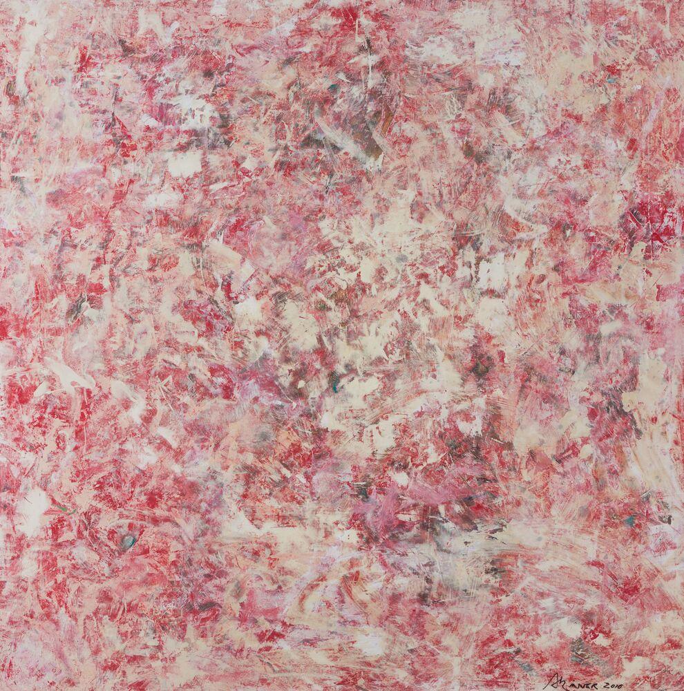 RED, 4'X4', oil/latex on oak, 2016