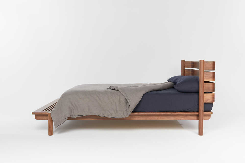 Title Bed 04 in Walnut. Image courtesy of Mast.