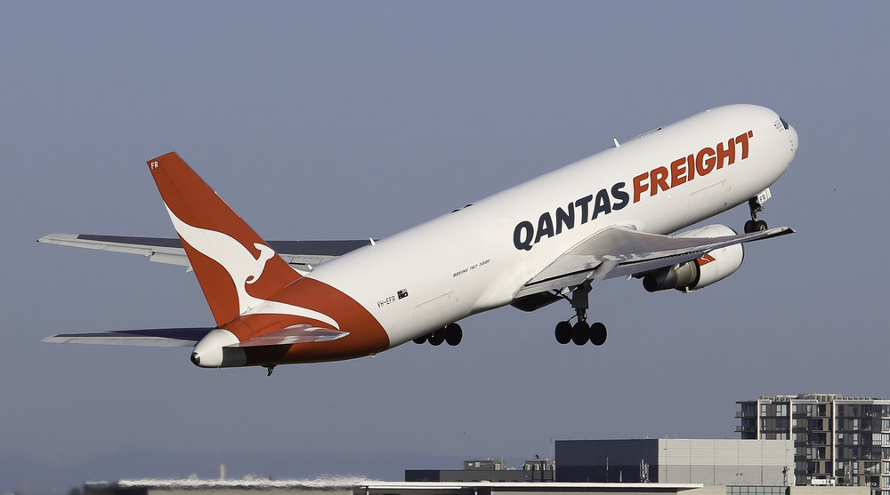 Qantas Freight will be deploying VH-EFR, their 767-300F on the service.