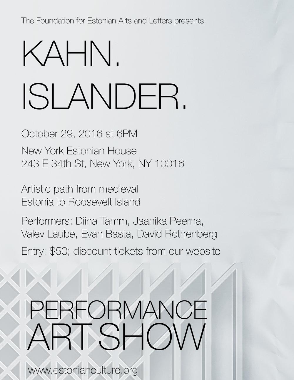 Kahn Islander - performance
