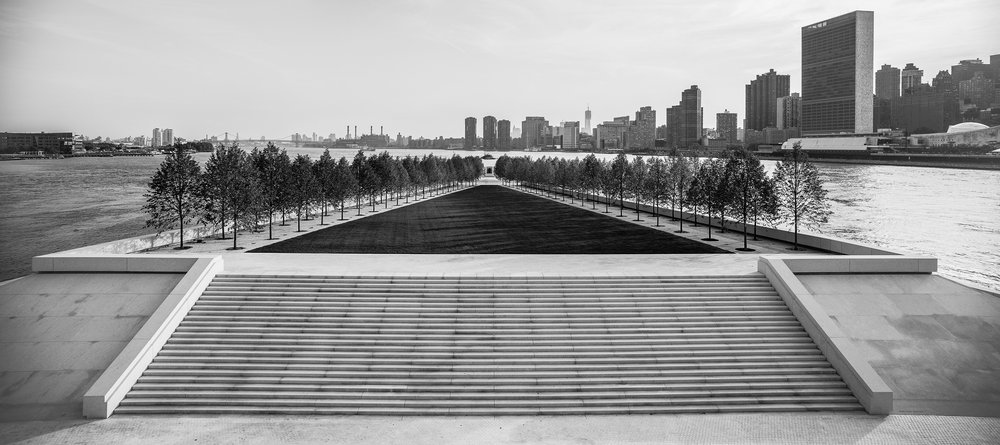 Franklin D. oosevelti Nelja Vabaduse park (Franklin D. Roosevelt Four Freedoms Park; Foto: Paul Warchol)