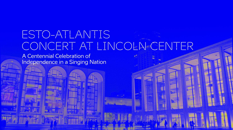 esto atlantis concert at lincoln center the foundation for