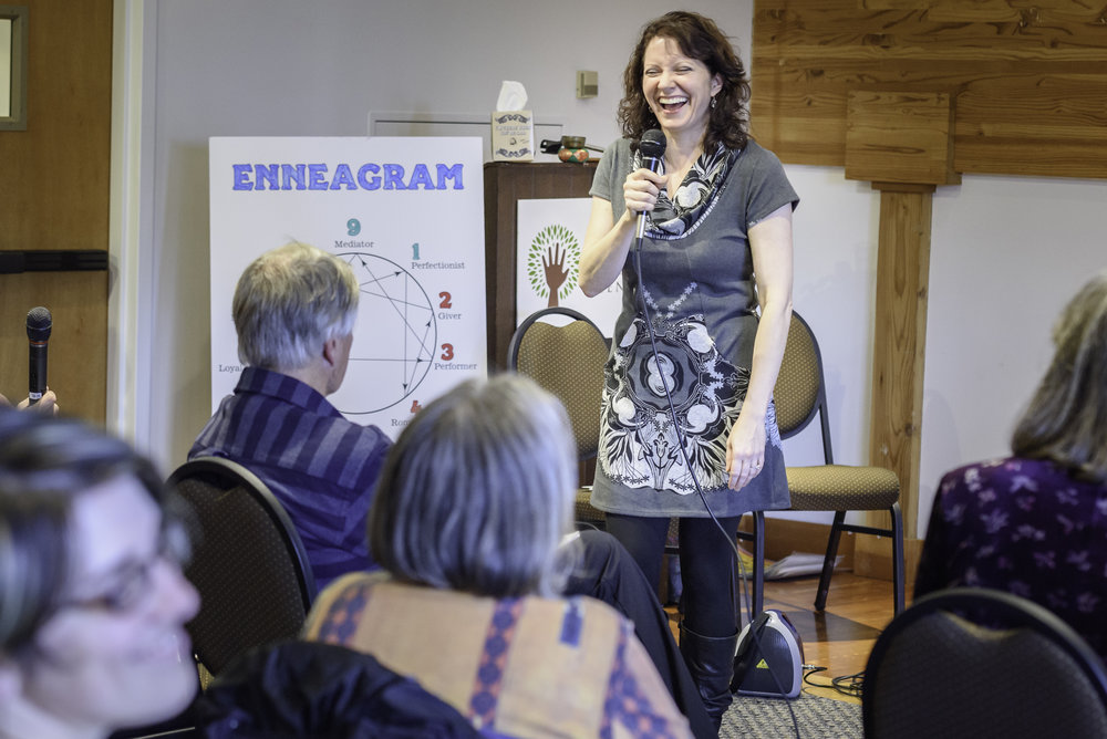 This is me delivering a fun and engaging Enneagram workshop in Portland, Oregon in October 2016.
