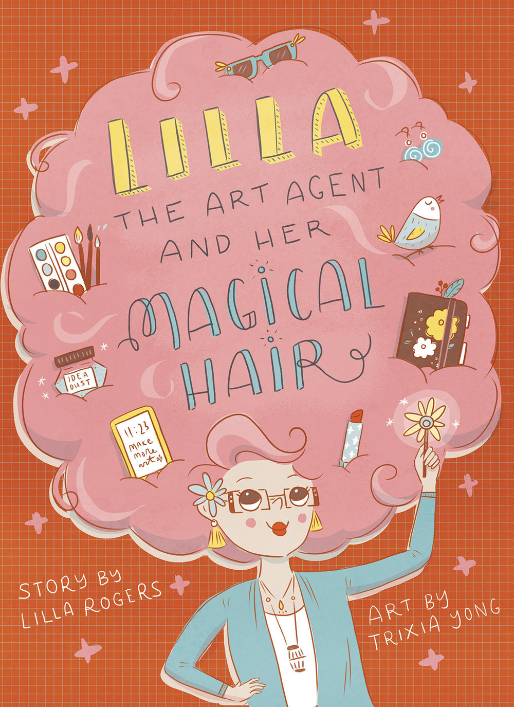 Book cover / Lilla's Magical Hair