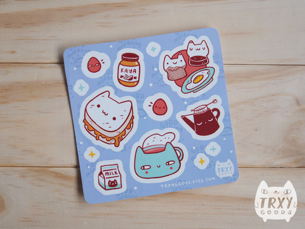 Breakfast Buddies Stickers