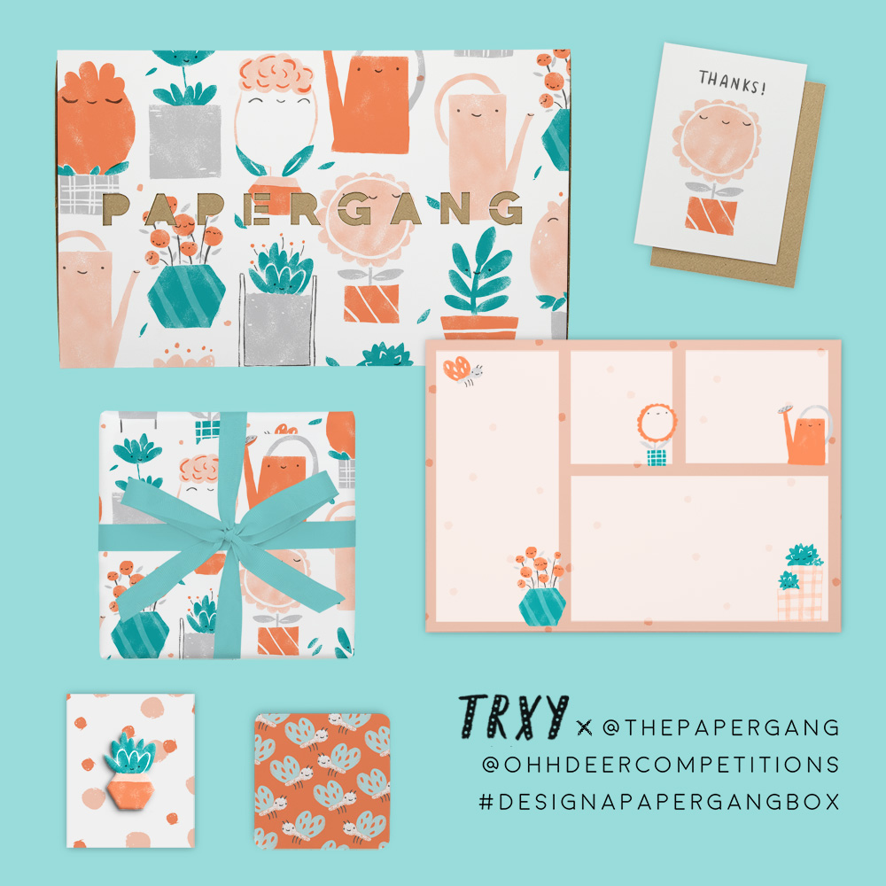 Happy Plants Stationery Set