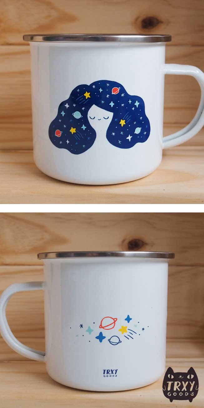 Galaxy Girl Enamel Mug