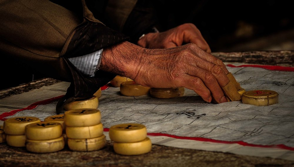 Draughts (Chinese Chekcers) Lijiang. Yunnan Province, China 2009