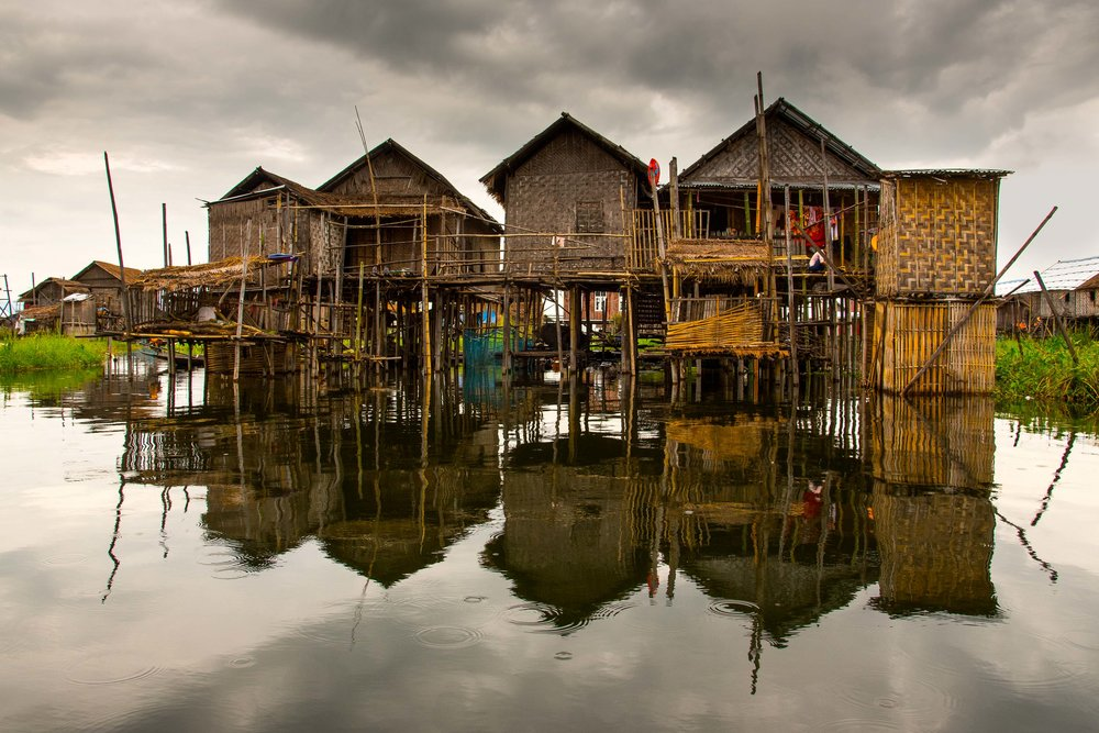 Stilted Homes. Inle Lake, Myanmar. 2015