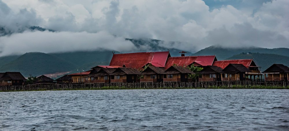 Red Stilted Home 1. Inle Lake, Myanmar 2015